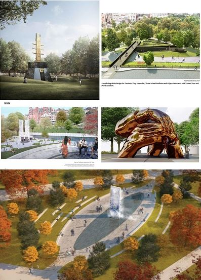 African American public art mural for Boston Common